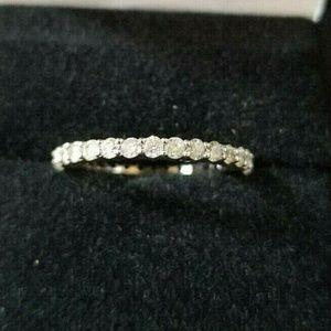 1 Carat White Gold Natural Diamond Eternity Ring